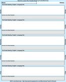 Common Core Lesson Plan Template 6th-Math with 3 drop-downs/day for standards