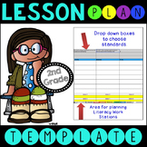 Common Core Lesson Plan Template With Drop Down Boxes 2nd Grade Language Art