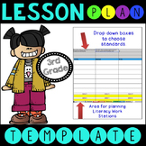 Common Core Lesson Plan Template With Drop Down Boxes 3rd Grade Language Arts