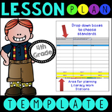 Common Core Lesson Plan Template With Drop Down Boxes 4th Grade Language Arts