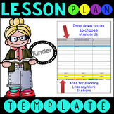 Common Core Lesson Plan Template With Drop Down Boxes K Language Arts