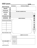 Common Core Lesson Plan Template with Bloom's Taxonomy