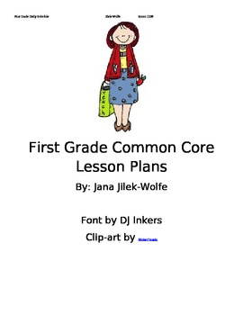 Common Core Lesson Plans for First Grade!