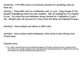 Common Core Letter I.D. Highlight