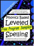 Phonics Based Spelling All Year - Free Sampler! {Leveled Program}
