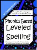 Phonics Based Spelling All Year {Leveled Program}