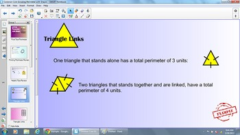 Linking Shapes with Perimeter for the SMART Board