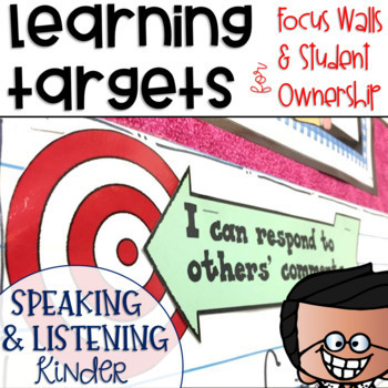 Common Core Speaking and Listening Learning Targets Kindergarten
