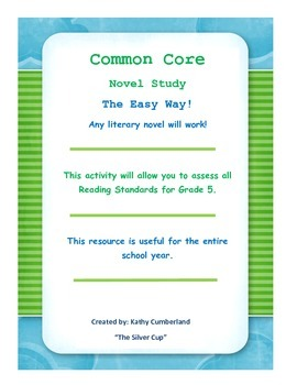 Common Core Lit Circles for any Novel!