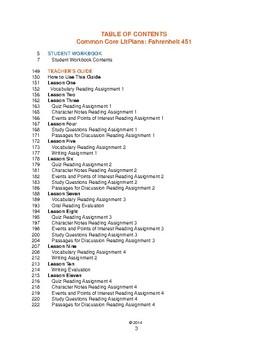 Common Core LitPlans: Fahrenheit 451 - Lesson Plans, Activities, Tests, More