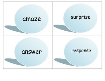 Common Core Literacy Center Game:  Synonyms
