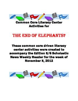 Common Core Literacy Center for Scholastic News (November 5, 2012)