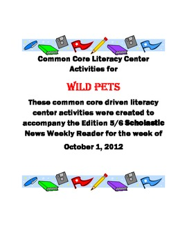 Common Core Literacy Center for Scholastic News (October 1, 2012)