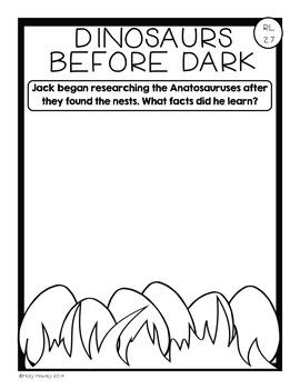 Common Core Literacy Resource Pack Dinosaurs Before Dark