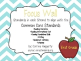 Common Core Literacy Standards Cards: First Grade