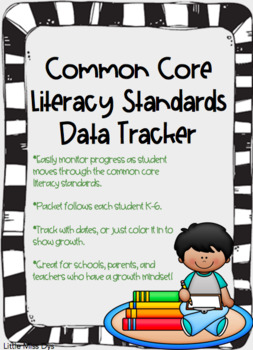 Common Core Literacy Standards Data Tracker Freebie!