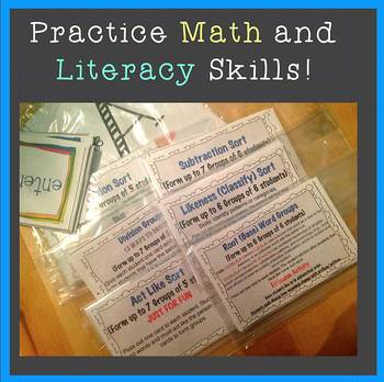 Common Core Literacy and Math Sorts - Group Students & Practice Core Skills