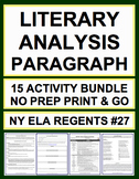 Literary Analysis & Paragraph: CCSS & NY Regents: Complete Guide (15 activities)
