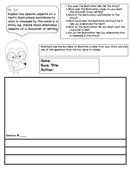 Common Core Literary Reading Response Prompts 3rd Grade