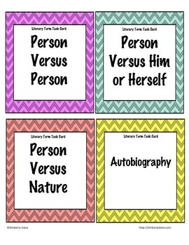 Common Core Literary Terms Task Cards