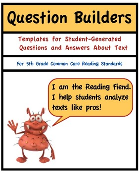 Common Core Reading, Literature, 5th Grade Question Builders