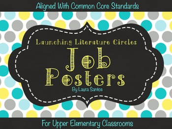 Common Core Literature Circles Job Posters