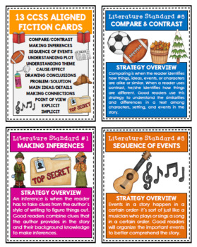 Fiction Reading Strategy Cards