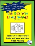 The Boy Who Loved Words Literature and Word Work Activities
