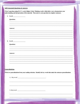 Universal Book Study Packet