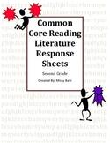 Common Core Literature Response Sheets for Reading Second Grade