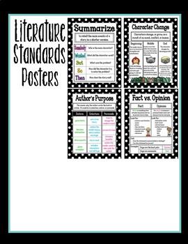 Common Core Literature Standards Poster BUNDLE!