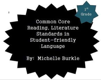 Common Core Literature Standards Posters- First Grade