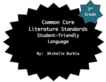 Common Core Literature Standards Posters- Third Grade