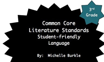 Common Core Literature Standards Posters- Third Grade