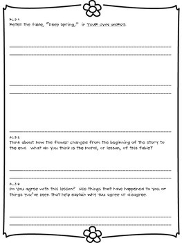 Common Core Literature Standards Review for Third Grade, Spring Edition
