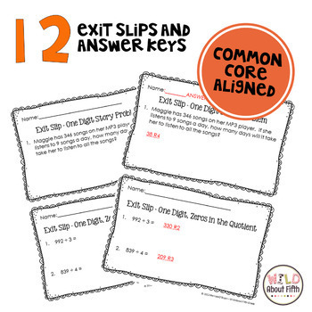 Long Division Assessment Pack - Common Core Aligned