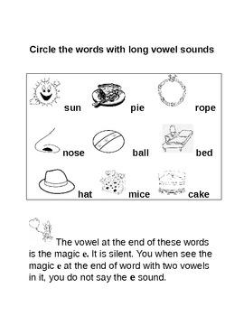 Common Core Long Vowel Lesson WITH chant