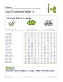 "Common Core - Long Vowel ""i"" Spelled ""i-e"" Final -e    DOUBLE Word Search Fun!"