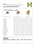 "Common Core - Long Vowel ""o"" Spelled ""o-e"" Final -e   DOUBLE Word Search Fun!"