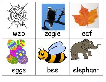 Common Core Long and Short Vowel E sort center ESL hands on kindergarten
