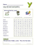 "Common Core - Long "" e "" Spelled "" y "" Word Search!  TRIPLE the Fun!"