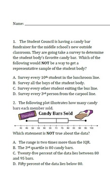 Common Core - M7 Exam 4A Inferences