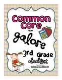 Common Core MATH Galore {3rd Grade Checklist}
