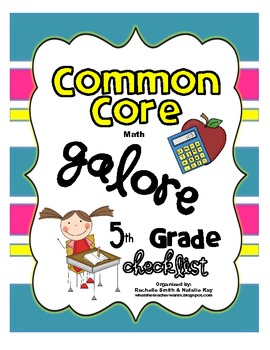 Common Core MATH Galore {5th Grade Checklist}