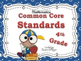 "Common Core MATH ""I Can Statements"" POSTERS: 4th Grade"