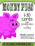 Common Core MONEY PIGS COIN IDENTIFICATION & MATCHING CARD