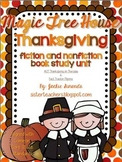 Common Core Magic Tree House Thanksgiving Unit (Fiction an