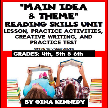 Main Idea Lesson, Reading Activities, Writing +Practice Test