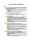 Common Core Main Idea and Inferencing Unit