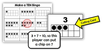 Common Core: Make a Ten Bingo